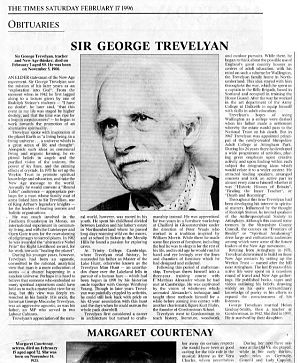 Sir George Trevelyan - brief biographies